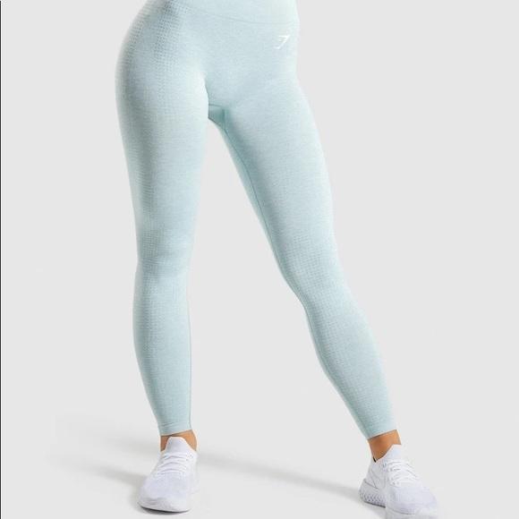 Gymshark Vital Seamless Leggings Light Green Marl